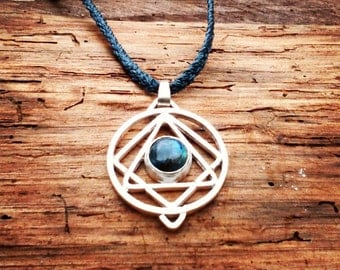 Design Circle - triangle - square, pendant necklace in silver
