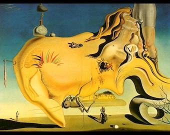 "Salvador Dali, Salvador Dali Print, Salvador Dali Art, Dali Poster, Surrealist, Weird, Strange, Dali, Altered Art, ""The Great Masturbator"""