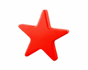 Childrens drawer knobs, Kids star knobs, Red wardrobe handles, Kids dresser knobs, Baby nursery decorations, Kids red star pulls