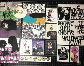 The Nightmare Before Christmas Scrapbook Kit!  Jack Skellington & Sally  Pumpkin King