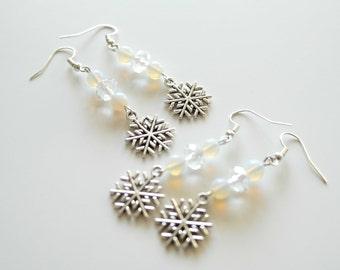 Sweet snowfall earrings