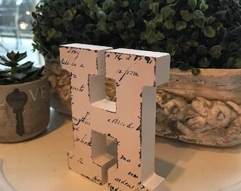 wood block letters decor / &  letter