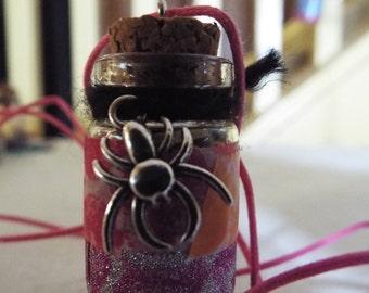 Spider herb bottle necklace for safety