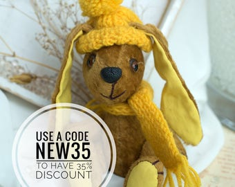 Hand Made Teddy Bunny Design Doll Collectible Soft Toy Cute Present for Children and Adults