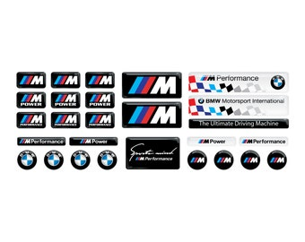 BMW 3d domed Stickers