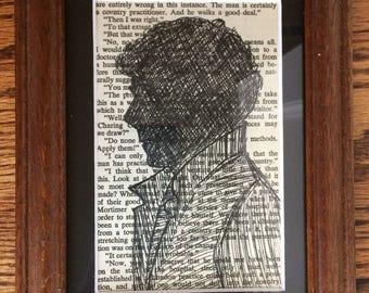 Sherlock Holmes Ink on bookpage