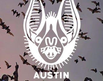 Austin Texas Bat Vinyl Decal Sticker
