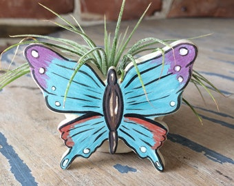 Air Plant planter, butterfly Planter, Air Plant Holder, Handmade Planter, Tillandsia, Airplant, Gift, Whale, Wedding Favor