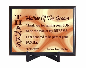 Mother of the Groom Custom Gift ,Gift to Mother in Law from Bride, Wedding Thank you Gift for Mother in Law,Parents of the Groom Gift,PWH011