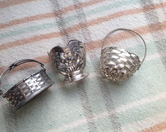 French silver baskets