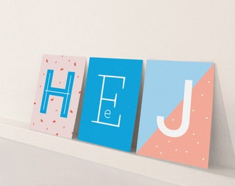 Letter cards / / DIN A7 / / post card mini