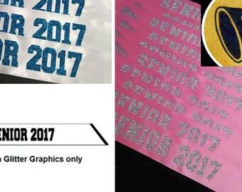 2018 Simple Glitter CHEER/Megaphone Senior 2018 Sash, Cheer Sash, Senior Sash