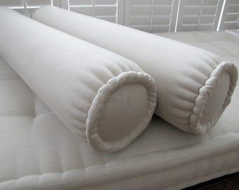 sunbrella bolster pillow neckroll pillow french mattress edge bolster cushion biege bolster