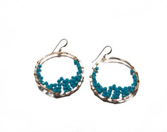 GIA EARRING * turquoise and gold filled
