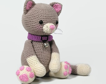 crochet  cat- stuffed kitty - plush -stuffed pet - animal toy - handmade cat - crochet toy - amigurumi cat - toy cat - crochet kitty