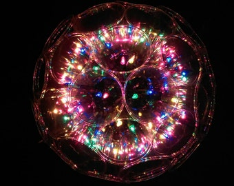Sparkle Ball with 100 Multicolored Lights, Decoration Ball, New and Handmade