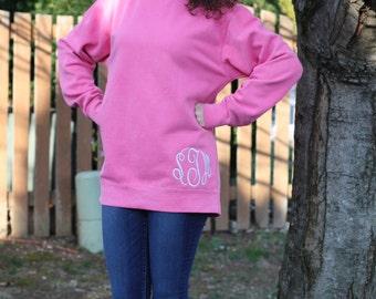 Monogram Comfort Colors Sweatshirt - Monogram Comfort Colors - Personalized Comfort Colors - Personalized Sweatshirt - Custom Sweatshirt