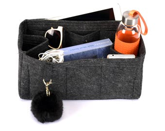 Delux Bag Purse Organizer in Charcoal Colour for Mulberry Bags, Bag insert for Mulberry (Express Shipping)
