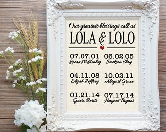 Lola and Lolo Valentine Gift, Lola & Lolo Gift, Our greatest blessings call us Lola and Lolo, Lolo and Lola Gift, Filipino Grandparent Gift