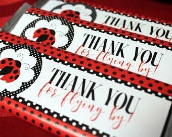 Ladybug Candy Wrapper, Hershey Baby Shower Printables, Ladybug Printables, Hershey Bar Wrapper, Candy Bar Label, Girl Hershey Sticker