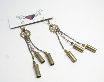 Gears and Bullets earrings
