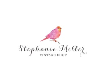 Watercolor Logo, Premade Logo, Vintage Logo, Logo Design, Bird Logo, Business logo, Boutique Logo, Boutique Logo, Business Branding