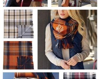 Blanket scarves ~ Monogrammed scarf ~ Mud Pie blanket scarf