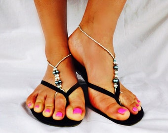 Sea Blue Barefoot Sandals