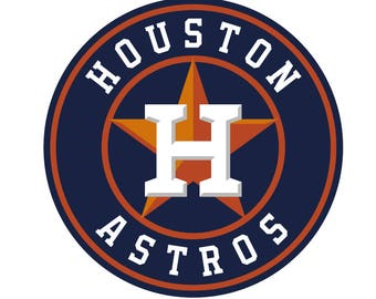 Houston Astros Logo Vinyl Decal Many Sizes Available Buy 2 get 1 free of equal or lesser size!