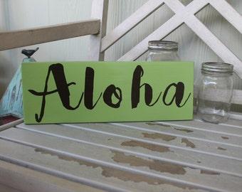 Aloha word sign   Etsy
