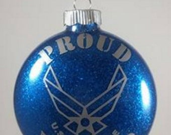proud Air Force Mother Christmas ornament/ Air Force pride