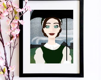 Margaret Hale Portrait   A Bookworm Gift For Lovers of Elizabeth Gaskell's North and South