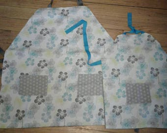 Handmade mother/daughter apron set.