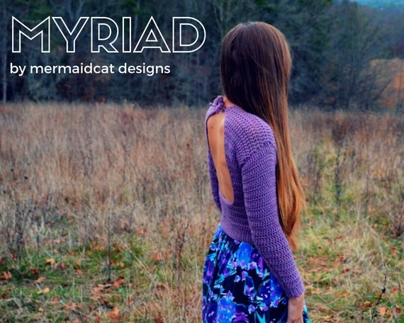Crochet lace-up backless sweater pattern - Myriad