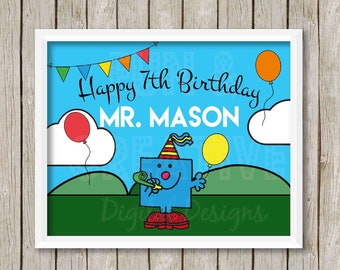 Mr Birthday Poster