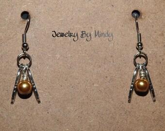 MINI Harry Potter Inspired Golden Snitch Earrings