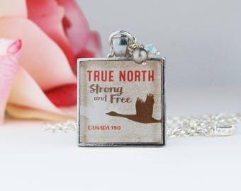 Canada Souvenir | Canada Goose Necklace | Canadian Jewelry | True North Strong and Free
