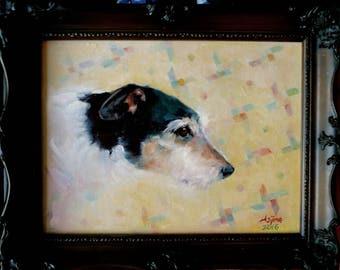 Jack Russell Oil Portrait