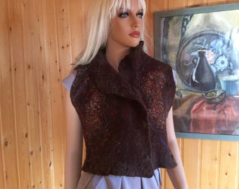 The felted vest ' Africa '