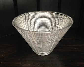 """Replacement Glass Shade 6 1/4""""/Glass conical lamp shade 6.25 inches/Lipless Glass Lamp Shade/Glass Lamp Shade"""