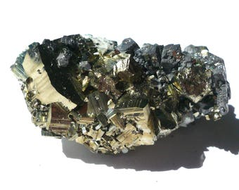 Pyrite stone Pyrite crystal Fool's gold Raw crystal Raw Pyrite Natural pyrite Pyrite cube Pyrite cluster Mineral Specimen 84 g
