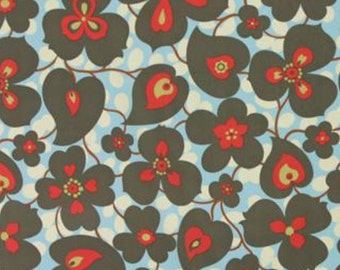 Morning Glory Fabric - Linen (Vivian Tula Fabric) - sold by the 1/2 yard