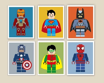 SUPERHERO WALL ART, Superhero Prints, Superhero Bedroom, Superhero Printables, Wall Art Superhero, Superhero Party Prints