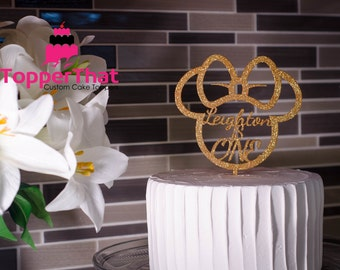 Personalized Minnie Ears Cake Topper