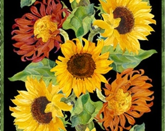 2/3 YD - Flowers of the Sun Panel by Wilmington Prints