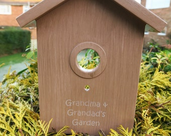 Personalised Bird House - Add any name or message