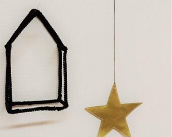 Fabric hanging star
