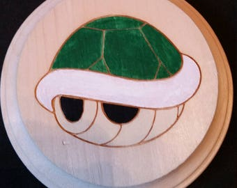 Green Turtle Shell (Super Mario Brothers) Wooden Wall Hanger