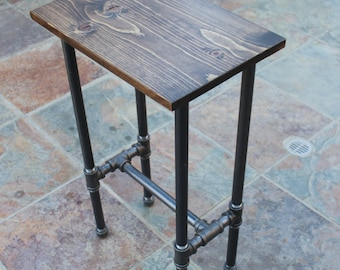 Rustic Industrial Bar Stool Custom Finish Options Available