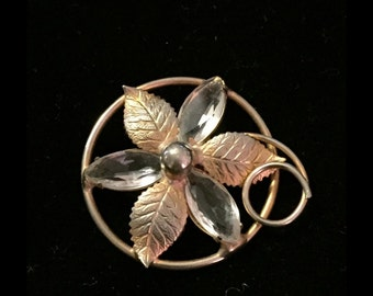 Beautiful Floral Vintage Brooch